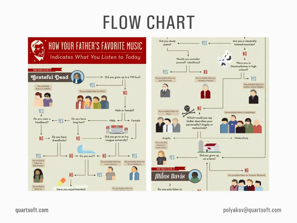 flow chart infographics