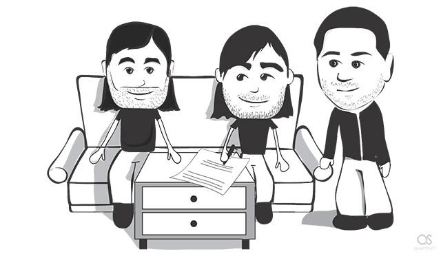 Apple Computer founders Steve Jobs, Steve Wozniak and Ronald Wayne
