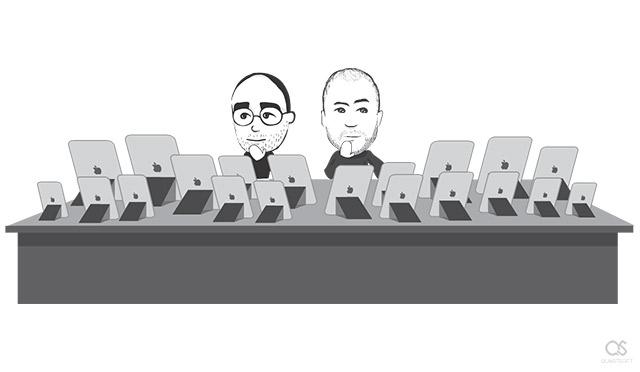 Steve Jobs iPad screen sizes
