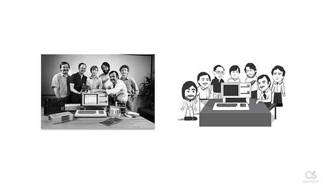 Apple Lisa team and Steve Jobs