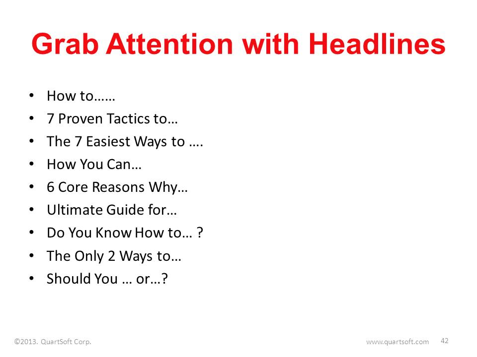 blog post headline examples