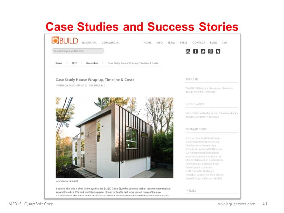 Case studies success stories blog post