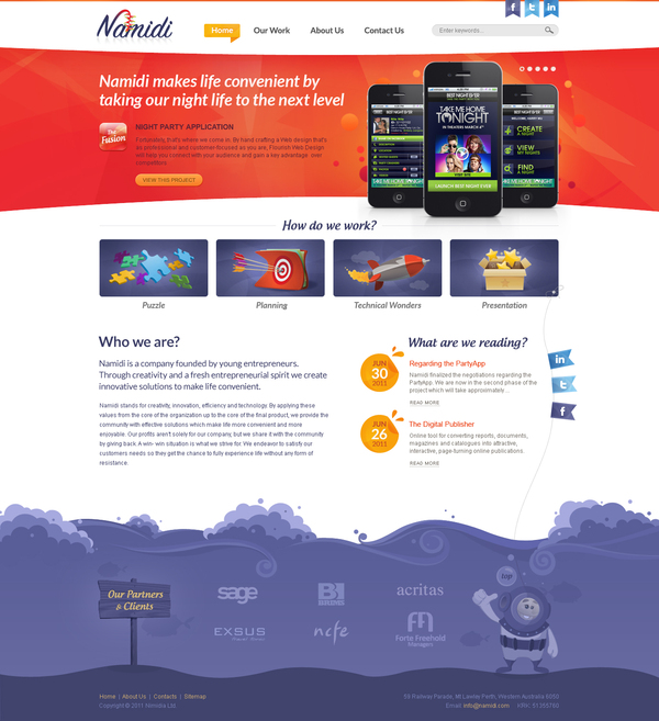 Namidi Corporate Website With Fun Vibe And Young Energy