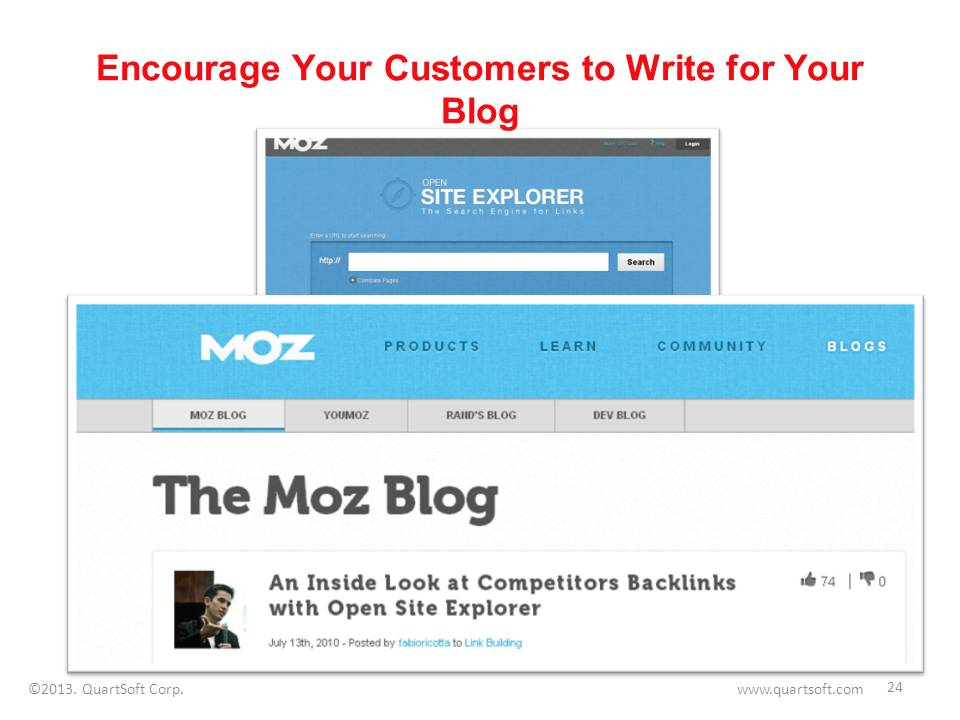customers writingguest articles for business blog