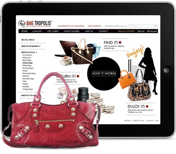online designer handbag rental