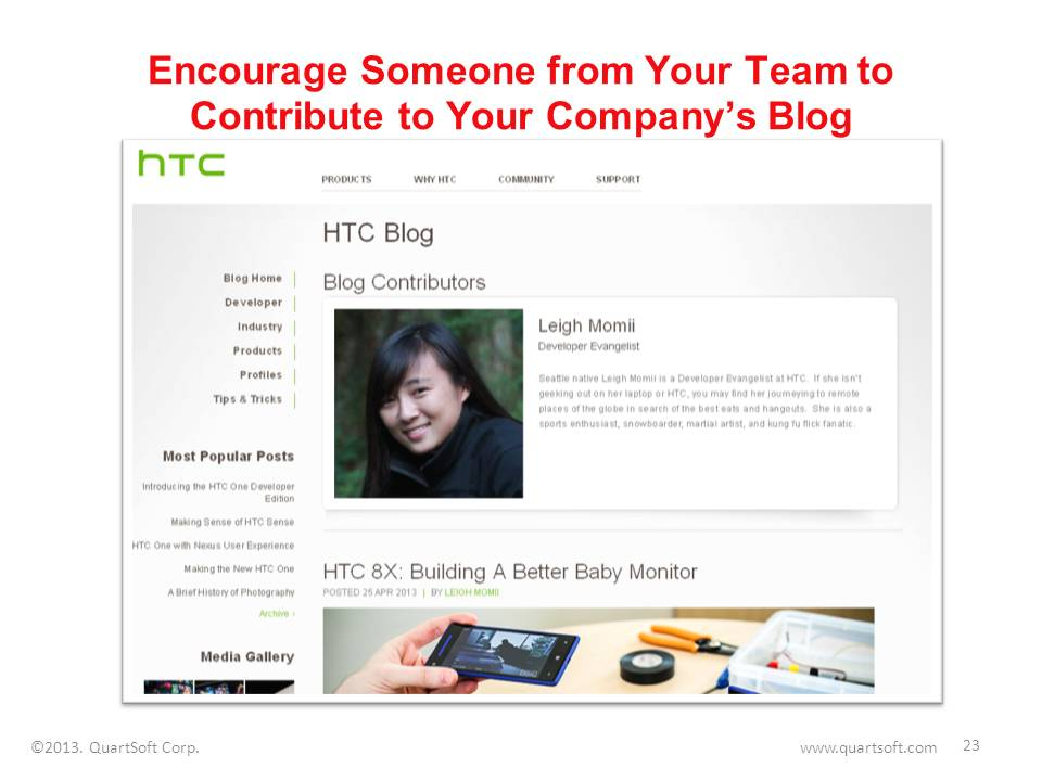 employee blogging for the company