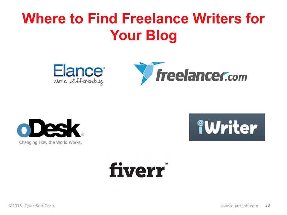 freelance platforms where one can find writers for business blog