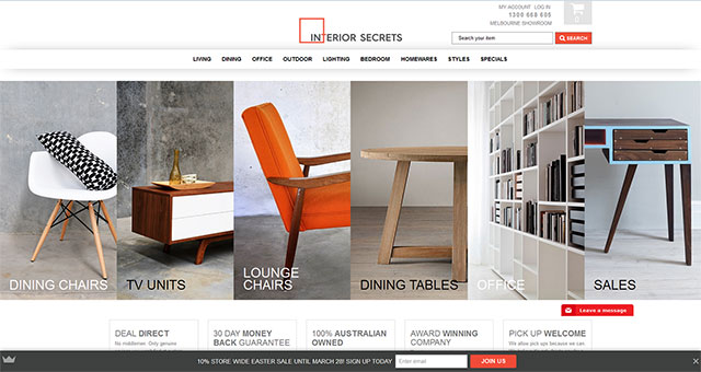 Online store development for a furniture business