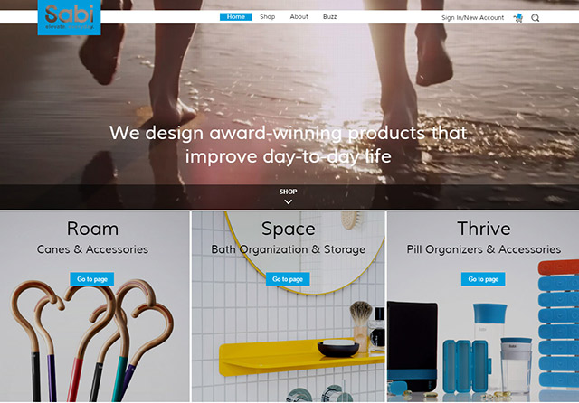 Online store designed and developed for a health and wellness business