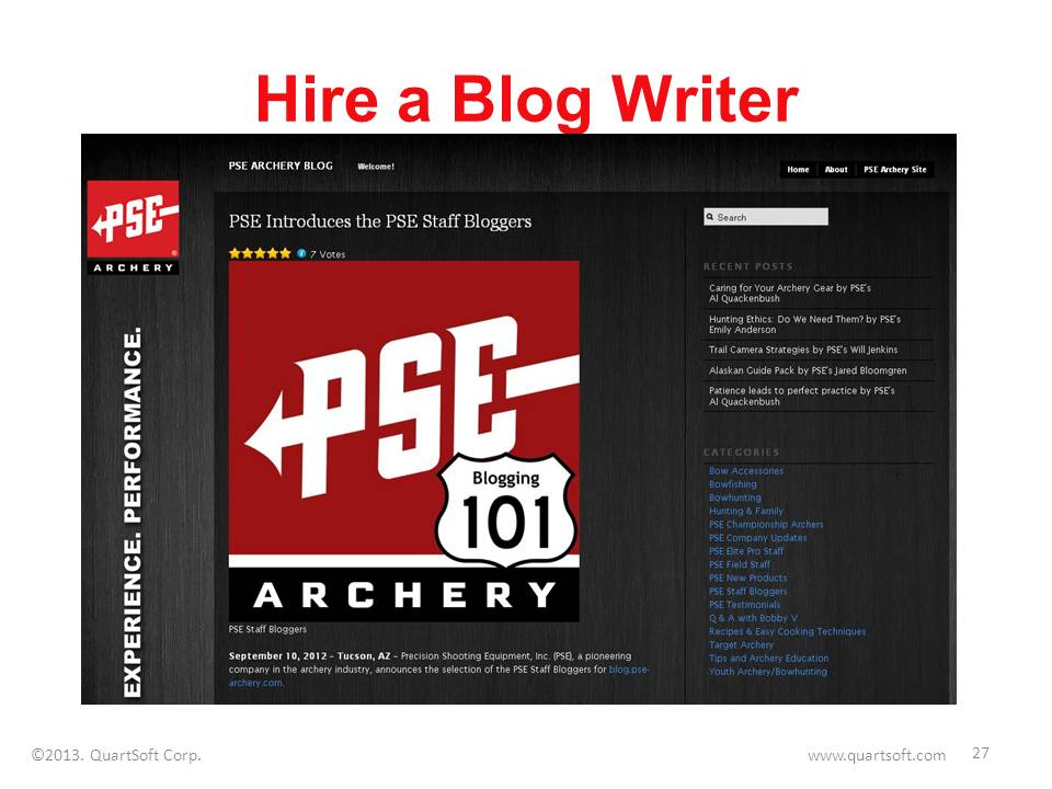 hiring staff blog writer