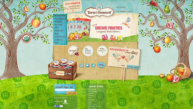 colorful illustrative website design for online store
