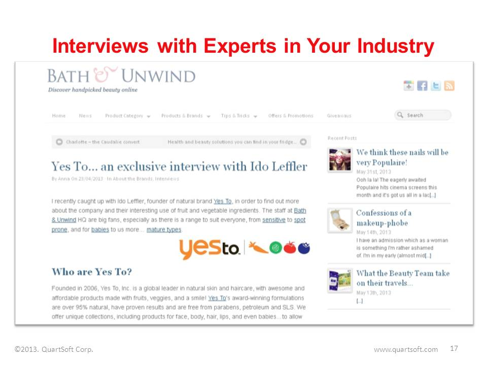 Interviews with experts blog post