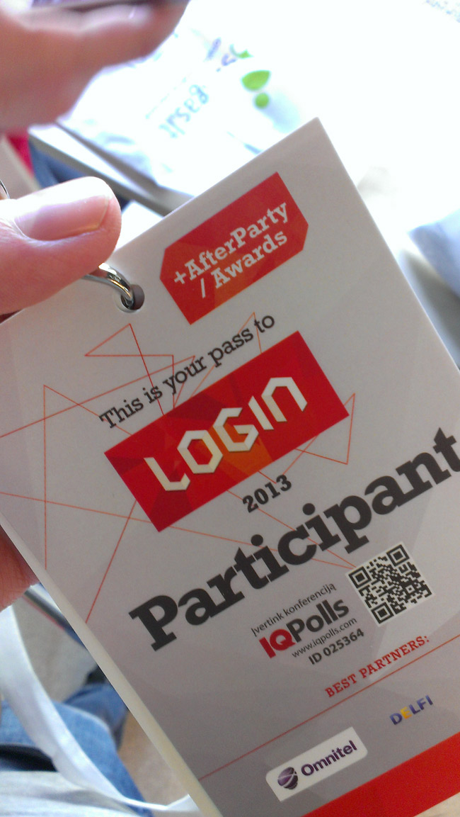 LOGIN conference in Vilnius