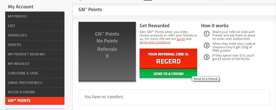 Online store loyalty program