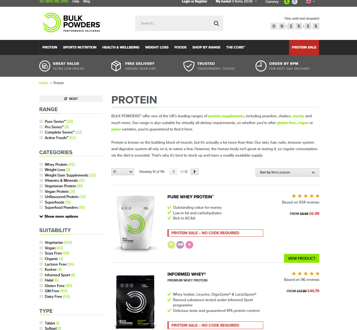 Magento-based sports and fitness store