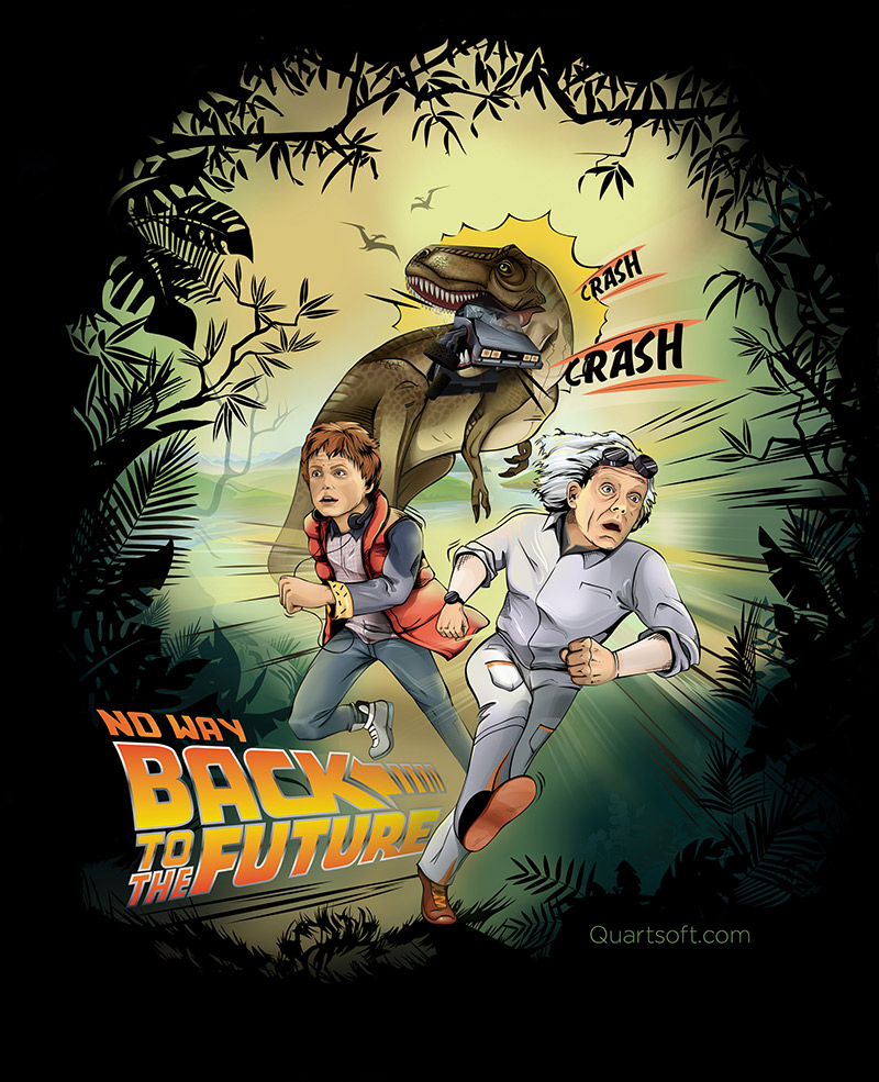 back to the future illustration, funny image