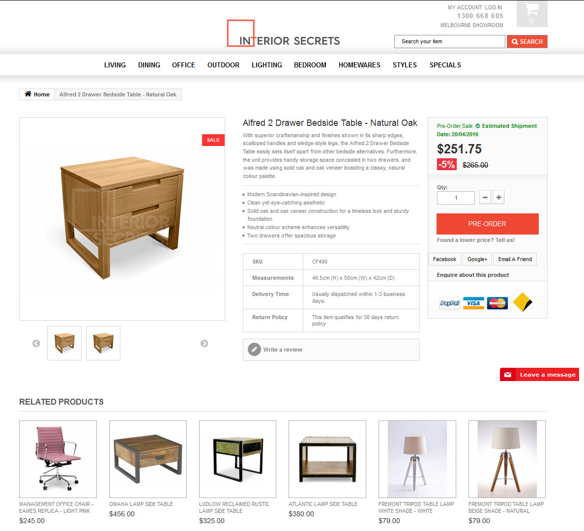 Mobile-Friendly Ecommerce Site for Furniture Retailer