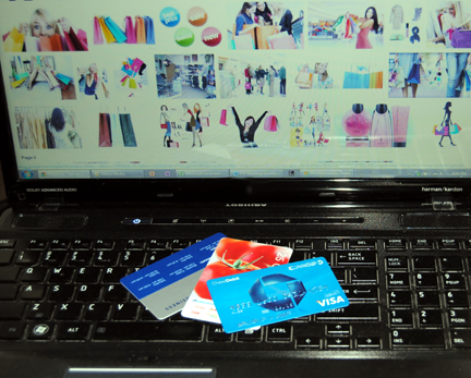 online shopping with credit cards, eCommerce sites