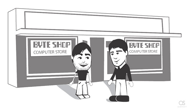Paul Terrell of the Byte Shop and Steve Jobs