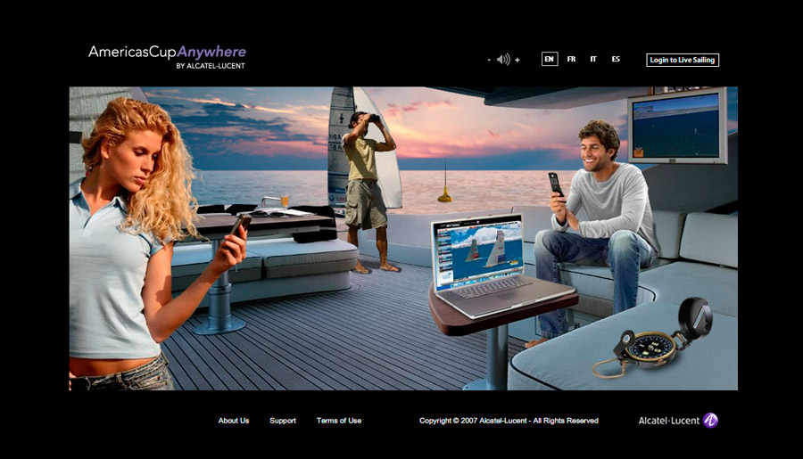 Americas Cup Anywhere - Website for Sailing Fans