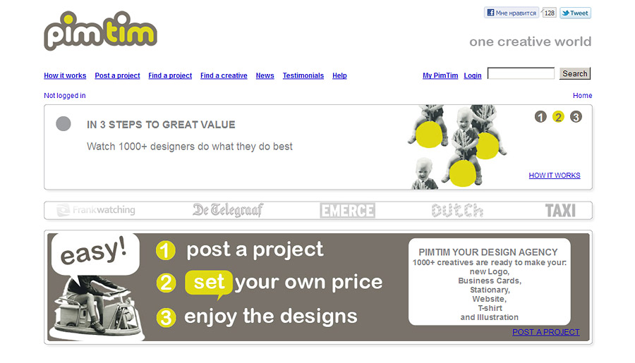 Pim Tim - community and marketplace for creative people