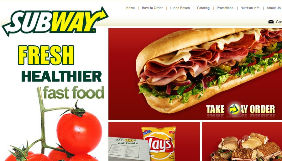 Website for a Subway fast food joint | Web development: quartsoft.com/portfolio/website-development/subway-singapore