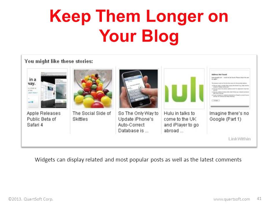 related content widget for blog