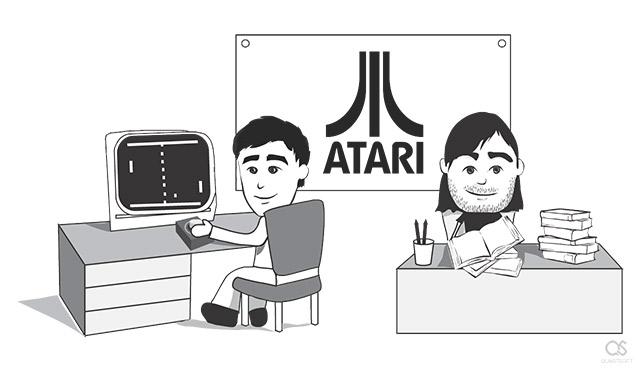 Steve Jobs first job at Atari featuring game Pong