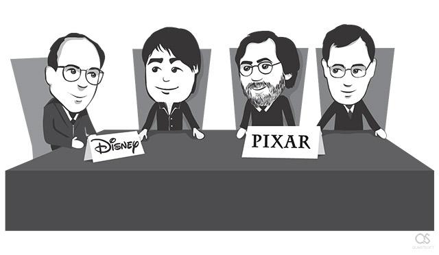 Steve Jobs during Pixar Disney negotiations