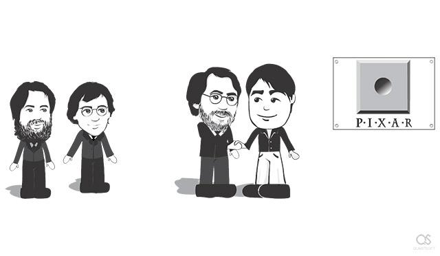 Steve Jobs founds Pixar with Ed Catmull, Alvy Ray Smith, John Lasseter