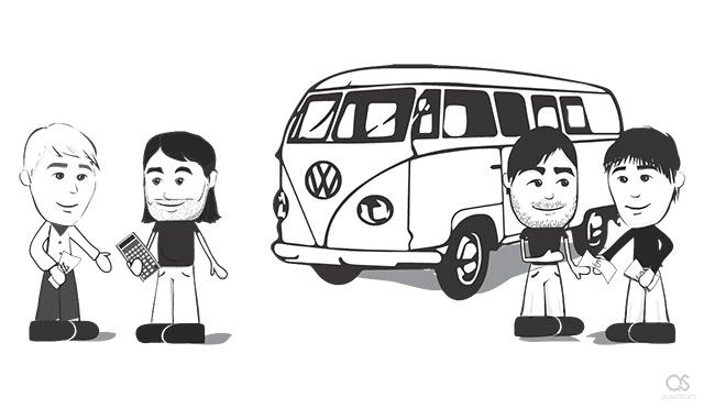 Steve Jobs selling Volkswagen van