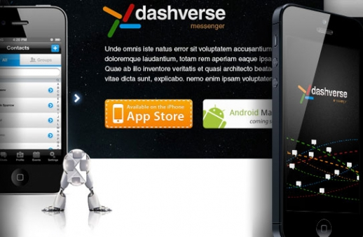 Dashverse: mobile chat app with social network features