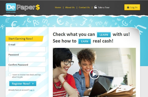 Depapers: Online Money Earning Platform for Students