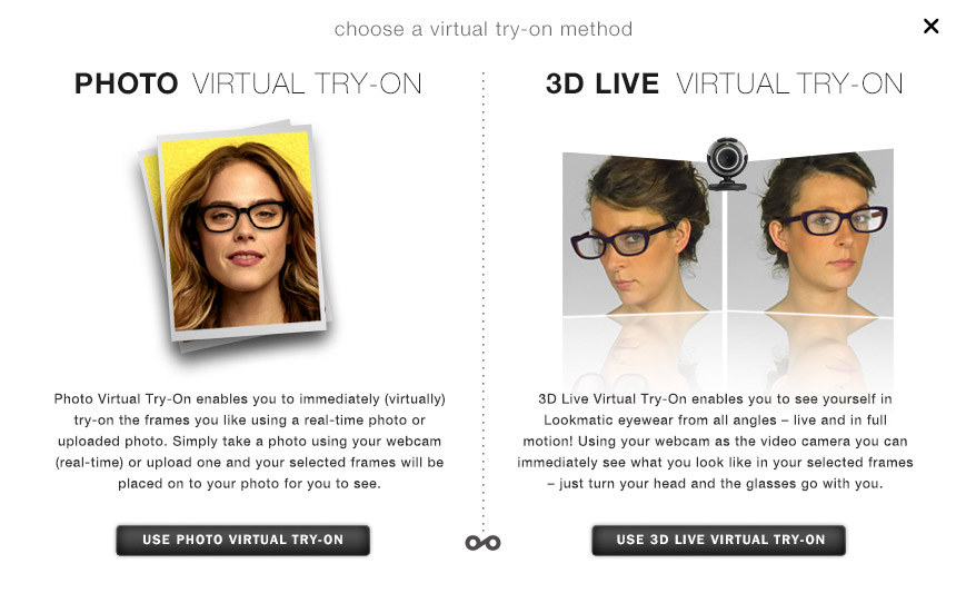 Virtual try-on for an online store