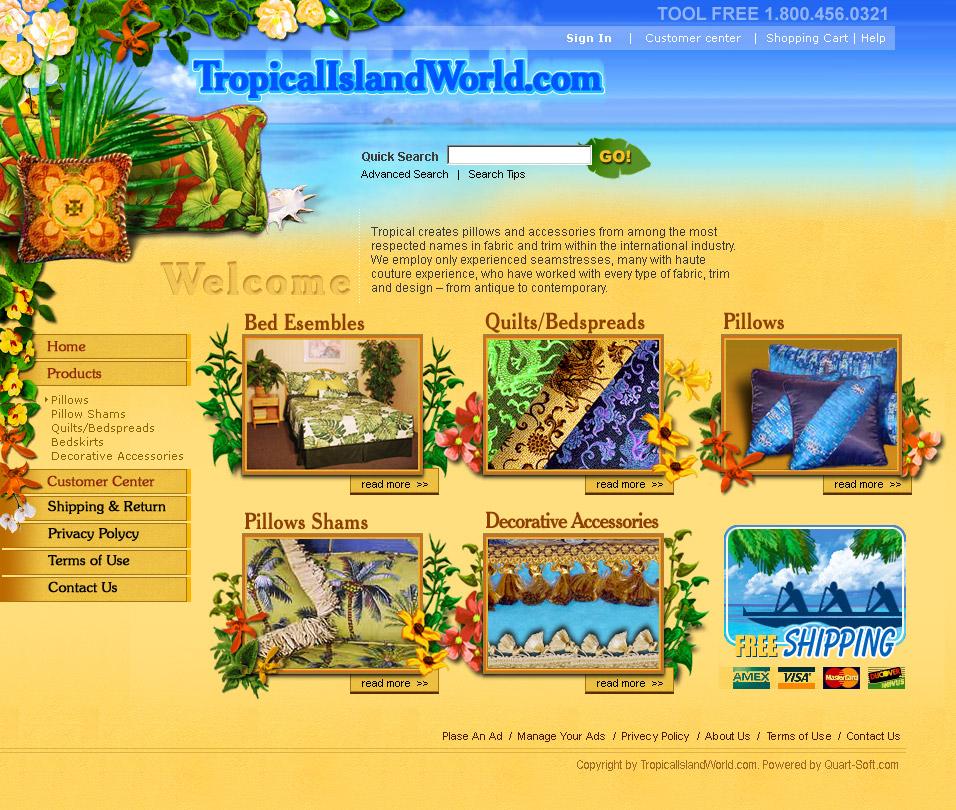 website for a bedclothes manufacturer