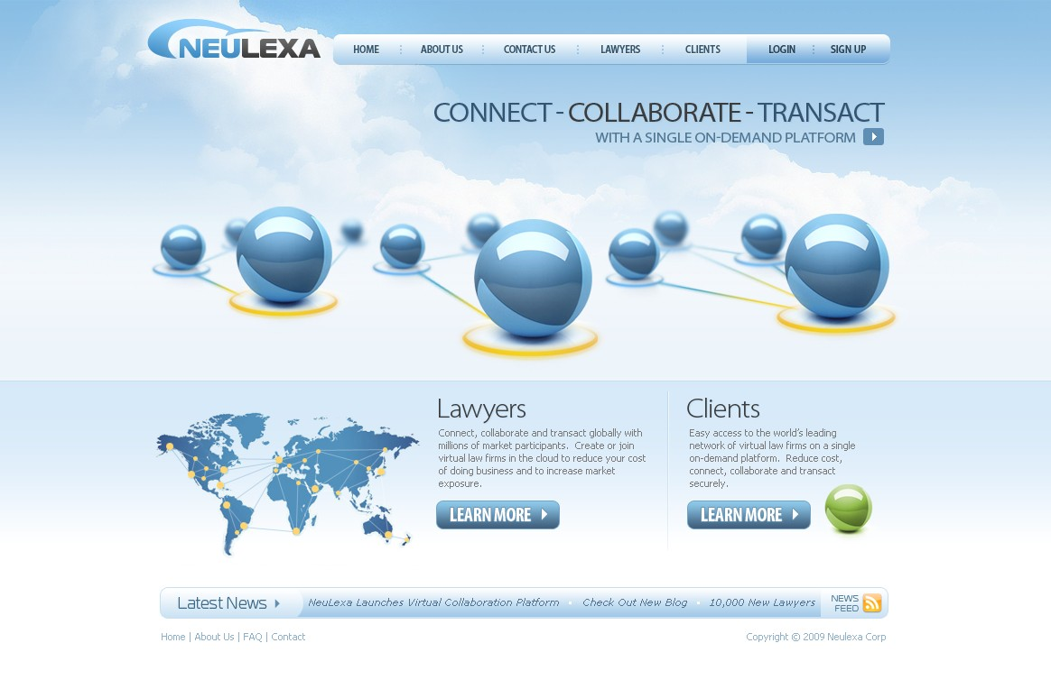 Website design for a network of virtual law firms