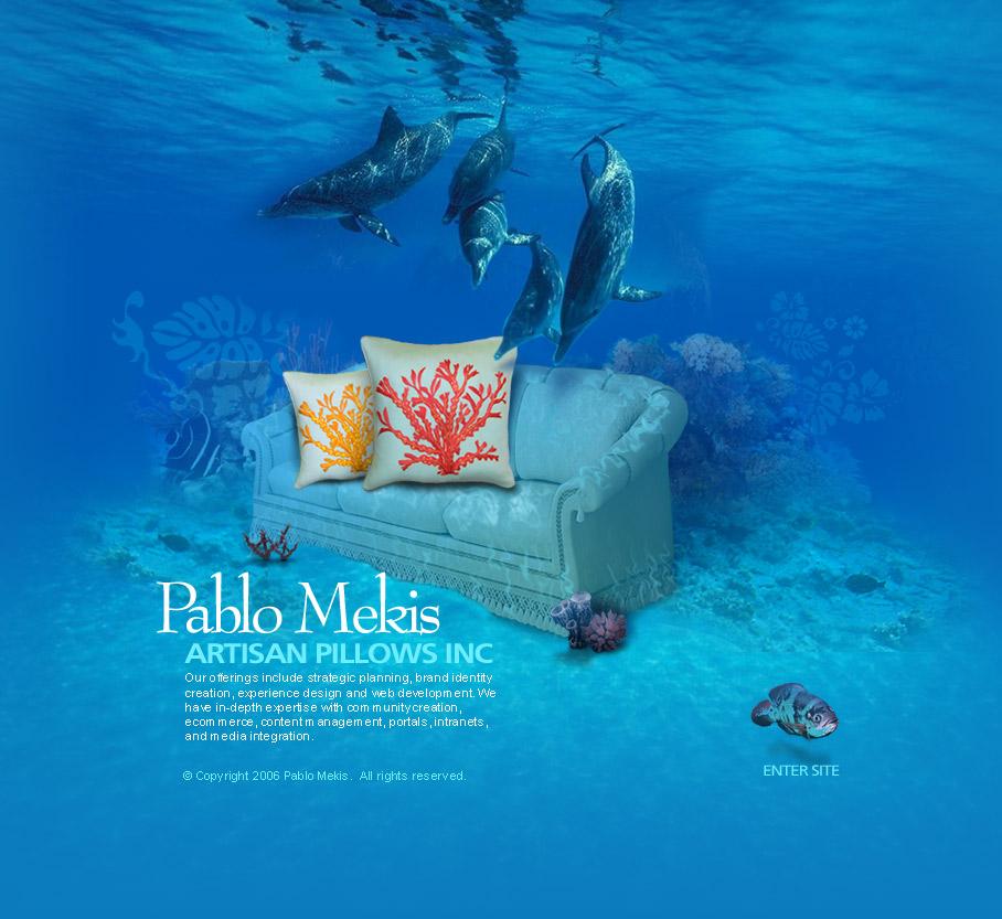 website design for a pillow designer